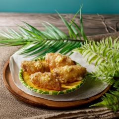 法式蒜蓉牛油雞翼 (4件)