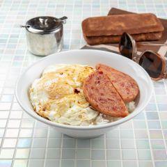 懷舊厚切餐肉煎雙蛋飯套餐
