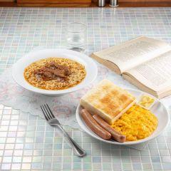 沙茶牛肉公仔麵 拼 炒滑蛋雙腸多士套餐