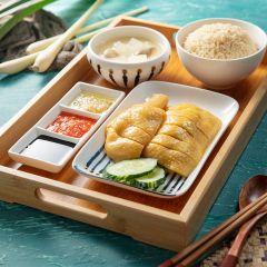 亞參海南雞飯 (配雞湯飯及清雞湯)